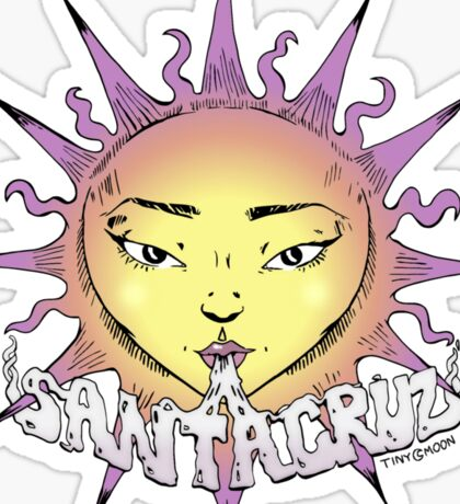 Santa Cruz Sun Sticker