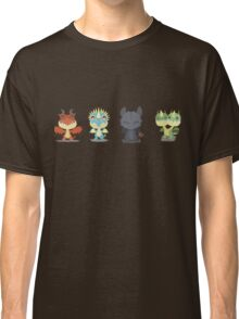"""Tiny Dragons """"How To Train Your Dragon"""" Classic T-Shirt"""