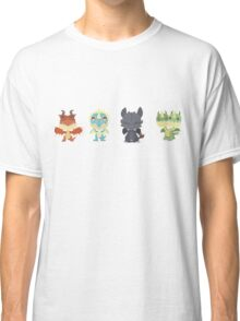 "Tiny Dragons ""How To Train Your Dragon"" Classic T-Shirt"