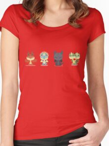 """Tiny Dragons """"How To Train Your Dragon"""" Women's Fitted Scoop T-Shirt"""