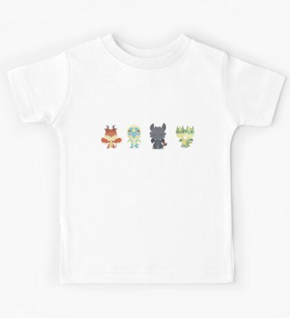 "Tiny Dragons ""How To Train Your Dragon"" Kids Tee"