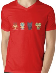"Tiny Dragons ""How To Train Your Dragon"" Mens V-Neck T-Shirt"