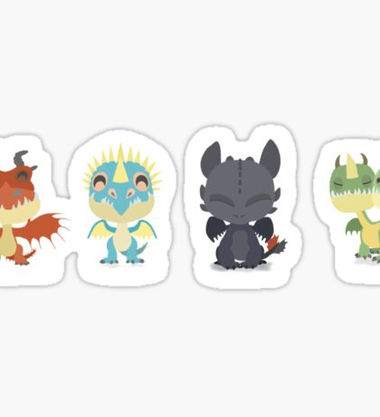 """Tiny Dragons """"How To Train Your Dragon"""" Sticker"""