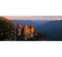 Sisters - Jamison Valley , Blue Mountains Series, NSW Australia Photographic Print
