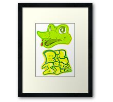 Little Gator, Big Bite Framed Print