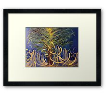 Forest Phantoms - Oils on Canvas by Matthew McCurdy. Framed Print