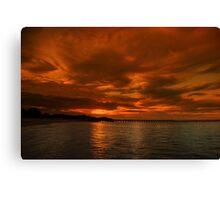 A Rye Sunset Canvas Print