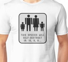 This species will self-destruct (grey back) T-Shirt