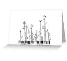 Let the music grow Greeting Card
