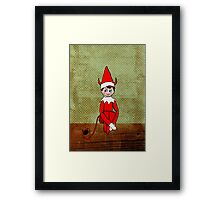 Mischief on The Mantle Framed Print