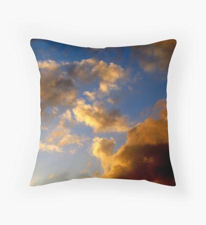 free form vapor Throw Pillow