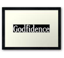 Godfidence Funny Geek Nerd Framed Print