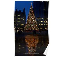 Christmas Tree Downtown Pittsburgh 2013 Poster