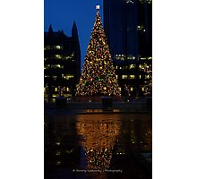 Christmas Tree Downtown Pittsburgh 2013 Photographic Print
