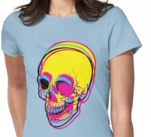 CMYK SKULL Womens Fitted T-Shirt