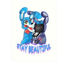 FIVE NIGHTS AT FREDDY'S-Stay Bonbon Art Print