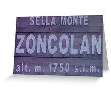 Monte Zoncolan Cycling Road Sign Greeting Card