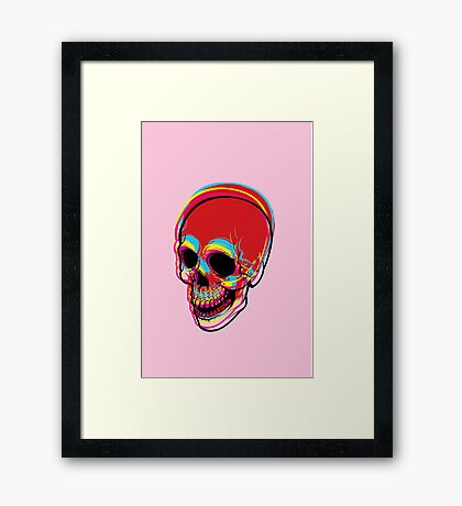 INSIDE OF ME THERE IS A CMYK SKULL FOR PRINT Framed Print