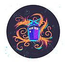 Swirly Twirly Tardis by Kat Smith