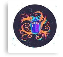 Swirly Twirly Tardis Canvas Print