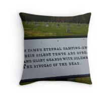 Bivouac of the Dead Throw Pillow