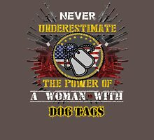 A Girl With Dog Tags Mens V-Neck T-Shirt
