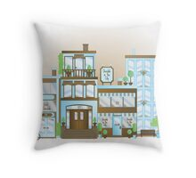 Chocolate in the City Throw Pillow