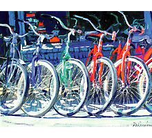 Bikes in A Row by RD Riccoboni ™ Photographic Print