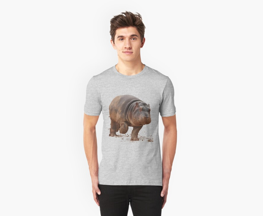 Baby Hippo on the Run: Tee by Daniela Pintimalli