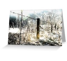 Dark fence Greeting Card