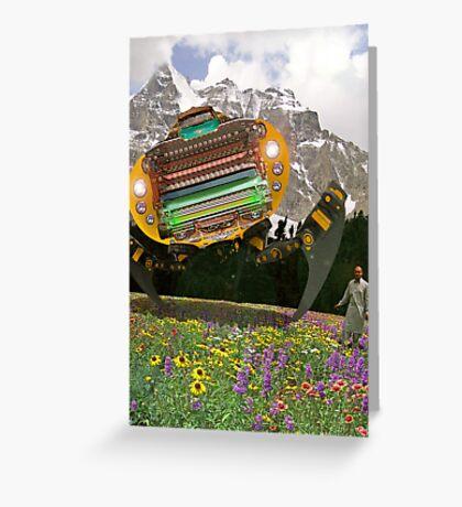 The Chitral چترال Doctor unveils the Bedford Truck Landwalker Greeting Card