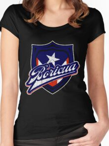 Boricua Badge Women's Fitted Scoop T-Shirt
