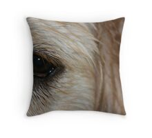 One wet puupy Throw Pillow