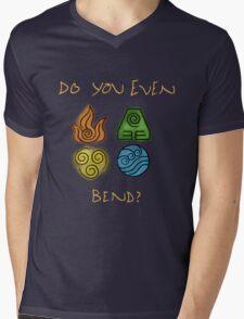 Do you even bend? Mens V-Neck T-Shirt