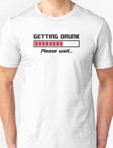 Getting Drunk Please Wait Loading Bar T-Shirt