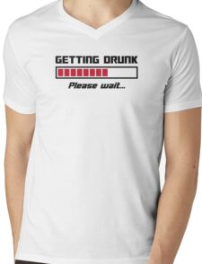 Getting Drunk Please Wait Loading Bar Mens V-Neck T-Shirt