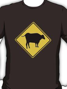 BULL CROSSING ROAD  SIGN  T-Shirt