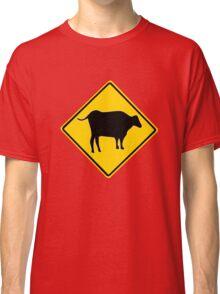 BULL CROSSING ROAD  SIGN  Classic T-Shirt