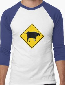 BULL CROSSING ROAD  SIGN  Men's Baseball ¾ T-Shirt