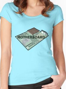 MOTHERBOARD COMPUTER Women's Fitted Scoop T-Shirt