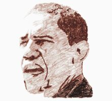 Sketch of a President: Barack Obama in Oil Pastels by irregulargoods