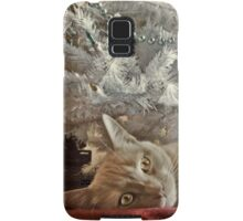 Ginger Cat Happy Holidays Samsung Galaxy Case/Skin
