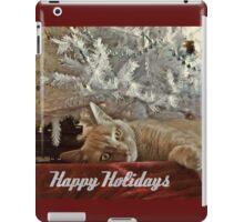Ginger Cat Happy Holidays iPad Case/Skin