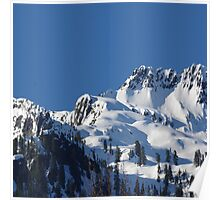 Beautiful Snowy Sunny Mountain Poster
