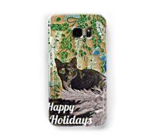 Feline Happy Holidays Samsung Galaxy Case/Skin