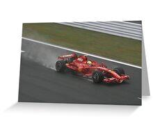 Felipe Massa Greeting Card