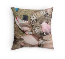 Tiger Temple Thailand - Kanchanaburi - Cubs #2 Throw Pillow