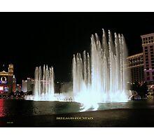 Bellagio Fountain Photographic Print