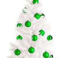 White Christmas tree by JH-Image