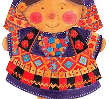 Sara the Purple Girl by haidishabrina